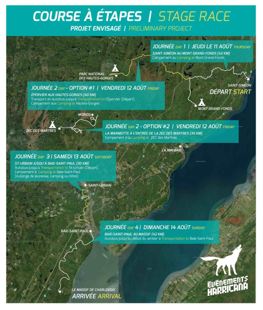 UTHC_Carte-course-etape-2021_stage race canada quebec ultra trail